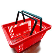 Black handle shopping Basket