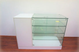 Display Counter With Lockable Storage