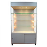 DL  Glass Cabinet with Storage