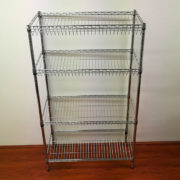 4-Level Slanted Basket Shelving Unit