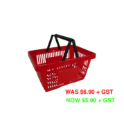 Small Black Handle Shopping Basket